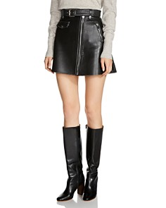 Maje - Jouki Leather Mini Skirt