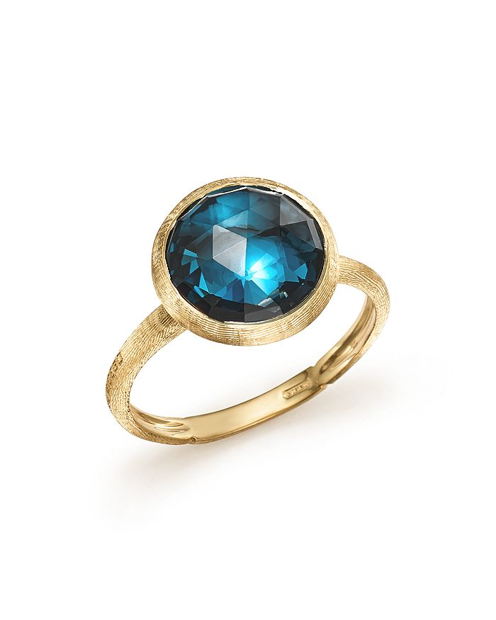 Marco Bicego 18K Yellow Gold Jaipur Blue Topaz Ring In Blue/Gold