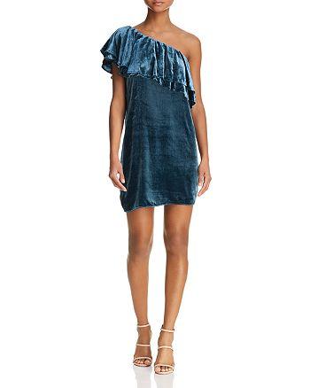 WAYF - Dillion One-Shoulder Velvet Dress - 100% Exclusive