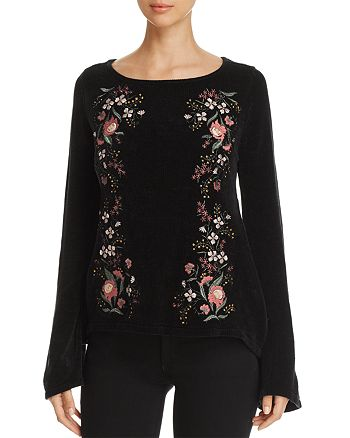 cupcakes and cashmere - Ruthie Embroidered Chenille Sweater