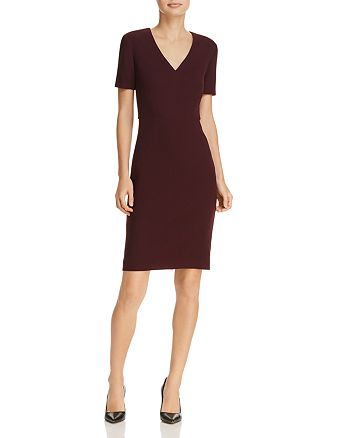 BOSS - Domandia V-Neck Sheath Dress