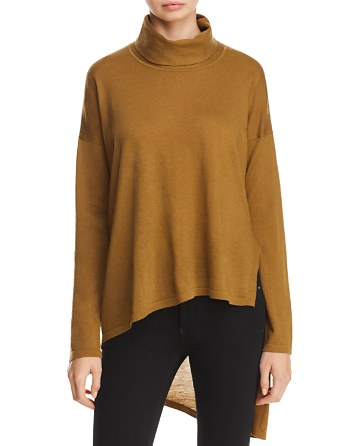 $Eileen Fisher High/Low Merino Wool Sweater - Bloomingdale's