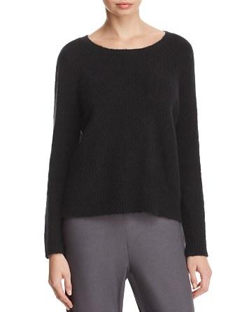 $Eileen Fisher Boat Neck Sweater - Bloomingdale's