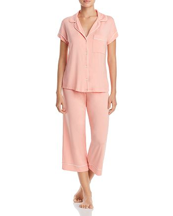 Eberjey - Gisele Short Sleeve Crop Pajama Set