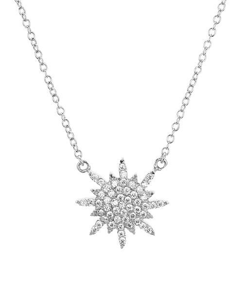 "AQUA - Sterling Silver Star Pendant Necklace 16"" - 100% Exclusive"