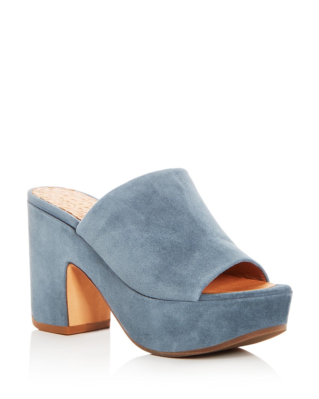 Chie Mihara Women's Fumie Suede High-Heel Platform Slide Sandals - 100% Exclusive TPS9Q