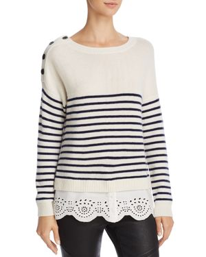 Joie Aefre Layered-Look Wool-Blend Sweater