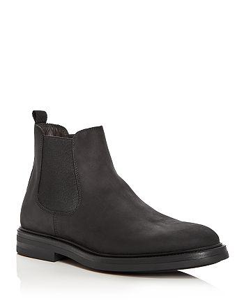 A.Testoni - Men's Waterproof Nubuck Leather Chelsea Boots