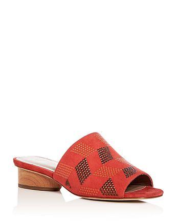Donald Pliner - Women's Rimini Embellished Suede Slide Sandals