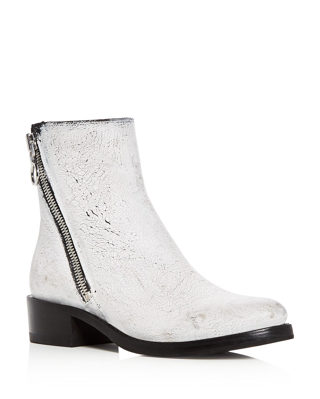 Frye Women's Demi Crackle Paint Leather Low Heel Booties SweJNJvWVD