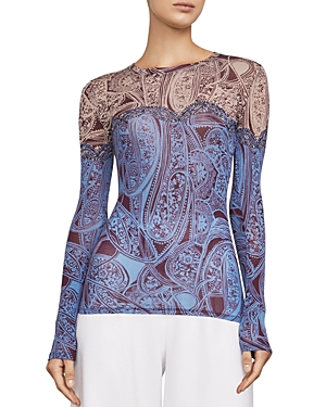 Bcbgmaxazria Agda Color-Block Paisley Top