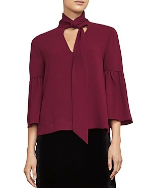 Bcbgmaxazria Mellie Tie-Neck Top