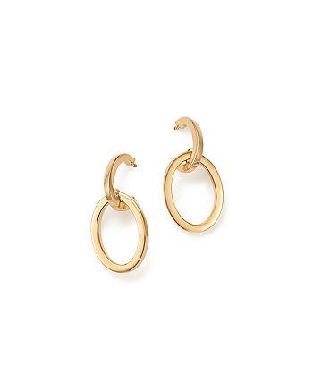 Bloomingdale's - Double Dangle Hoop Drop Earrings in 14K Yellow Gold - 100% Exclusive