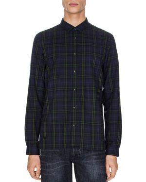 The Kooples Tartan Forest Classic Fit Button-Down Shirt
