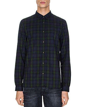 The Kooples Tartan Forest Classic Fit Button-Down Shirt