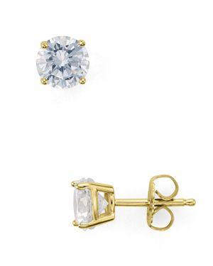 Aqua Sterling Silver Stud Earrings - 100% Exclusive