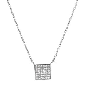"AQUA - Sterling Silver Square Pendant Necklace, 16"" - 100% Exclusive"