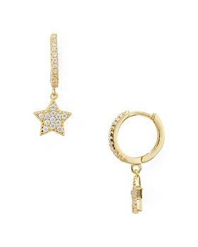 AQUA - Sterling Silver Star Hoop Earrings - 100% Exclusive