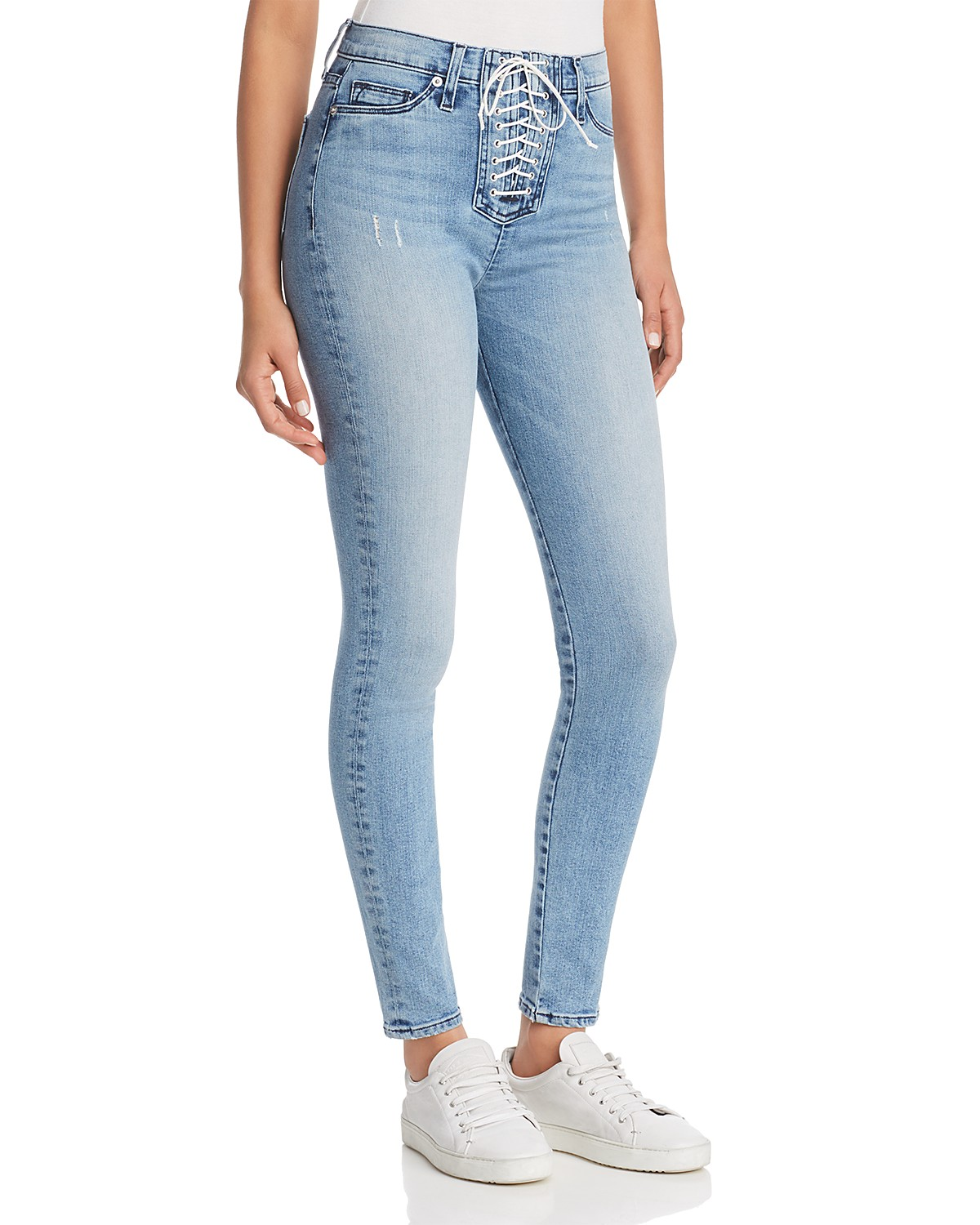 Hudson Bullocks Skinny Lace-Up Jeans in Guilty Pleasure | Bloomingdale\'s