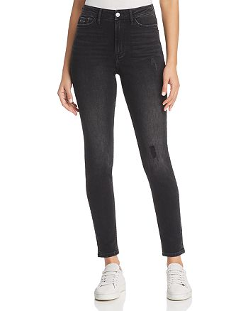 Calvin Klein - High-Waist Skinny Jeans in Empire Black