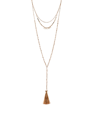Aqua Long Tassel Layered Necklace, 16-28 - 100% Exclusive