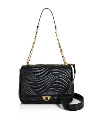 Salvatore Ferragamo Lexi Waves Leather Shoulder Bag 2676023