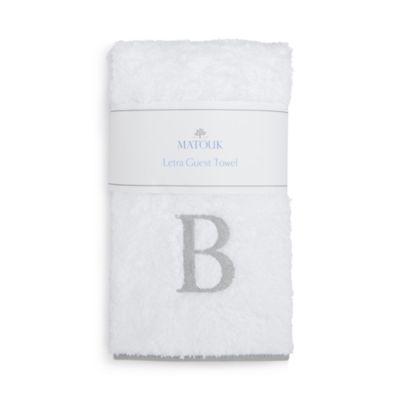 $Matouk Letra Monogram Guest Towel - 100% Exclusive - Bloomingdale's