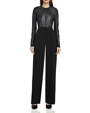 Bcbgmaxazria Ira Faux-Leather Bodysuit