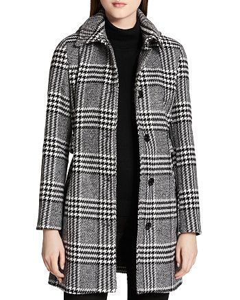 Calvin Klein - Belted Plaid Coat