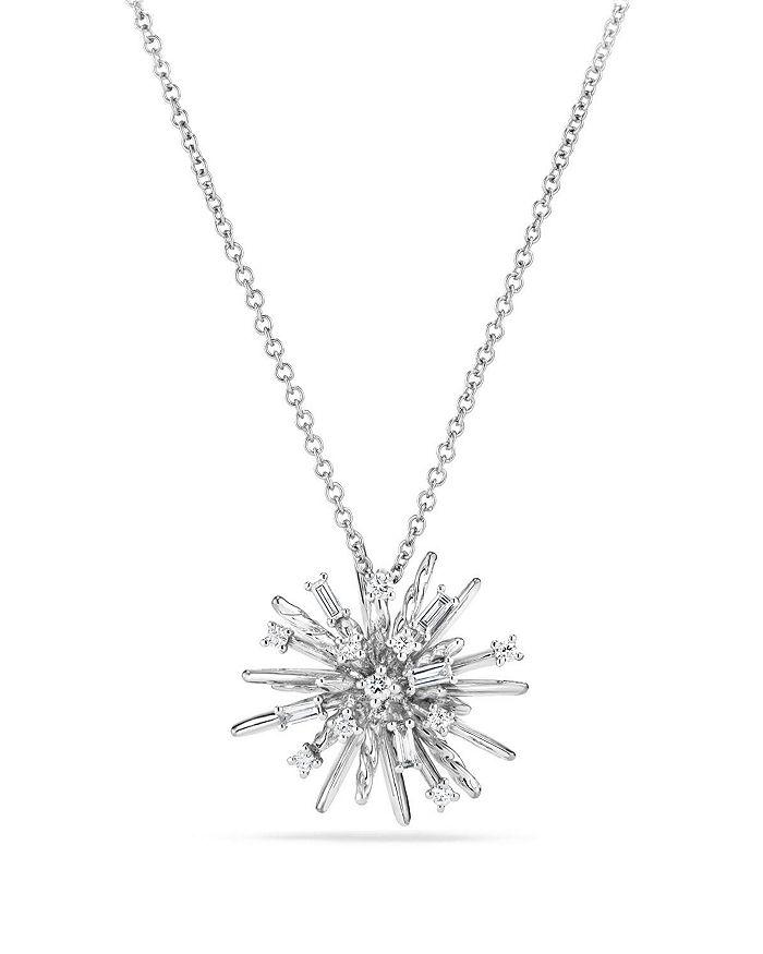 David Yurman - Supernova Small Pendant Necklace with Diamonds in 18K White Gold