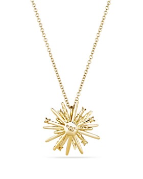 David Yurman - Supernova Small Pendant Necklace with Diamonds in 18K Gold