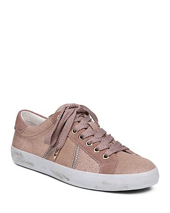5efe0b77a6b5 Sam Edelman Baylee Women s Suede Low Top Lace Up Sneakers ...
