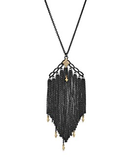 """Armenta - 18K Yellow Gold & Sterling Silver Old World Cravelli Tassel Necklace with Champagne Diamonds, 28"""""""