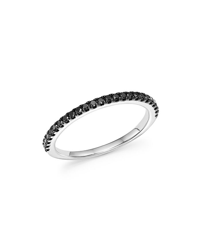 Bloomingdale's - Black Diamond Band in 14K White Gold, 0.20 ct. t.w. - 100% Exclusive