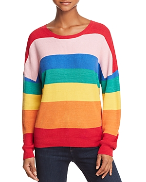 Vintage Sweaters: Cable Knit, Fair Isle Cardigans & Sweaters Honey Punch Rainbow Striped Sweater AUD 81.56 AT vintagedancer.com