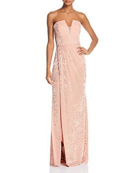 Avery G - Strapless Velvet Gown
