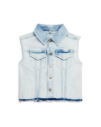 DL1961 - Girls' Acid-Washed Denim Vest - Big Kid