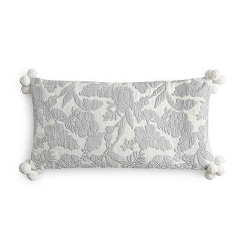 """Sky - Velvet Floral Decorative Pillow, 12"""" x 24"""" - 100% Exclusive"""
