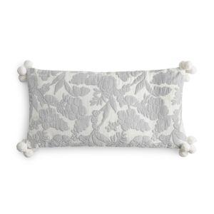 Sky Velvet Floral Decorative Pillow, 12 x 24 - 100% Exclusive