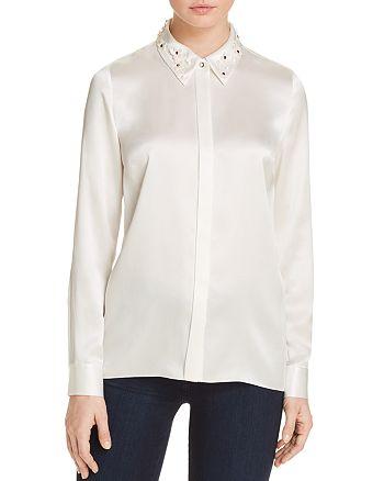 Elie Tahari - Wren Embellished Collar Silk Blouse - 100% Exclusive