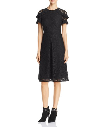 $Burberry Ruffle Sleeve Lace Dress - Bloomingdale's