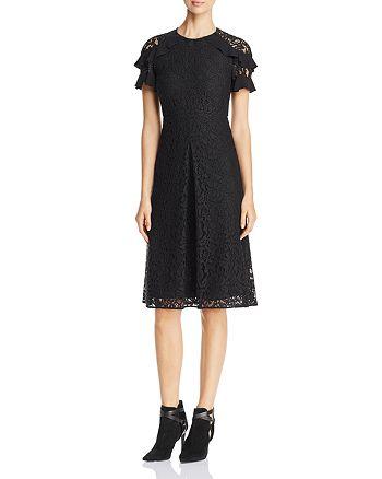 Burberry - Ruffle Sleeve Lace Dress