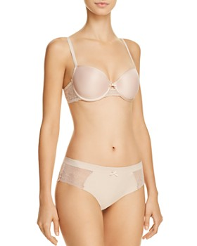 Chantelle - Le Marais Low Cut Smooth Custom Fit Bra & Lace Hipster