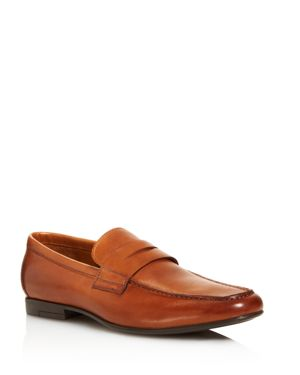 GORDON RUSH Men'S Connery Calf Leather Loafers in Cognac Leather