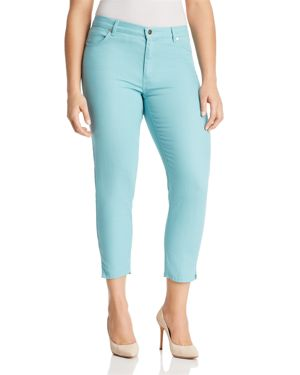Marina Rinaldi Radiale Cropped Notched-Hem Jeans 2785304
