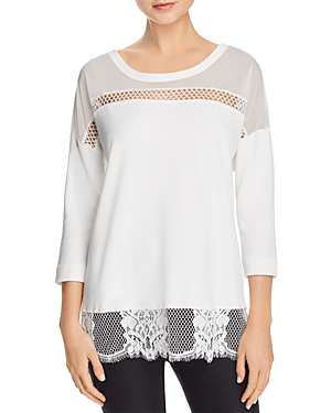 French Connection Delos Mixed-Media Top
