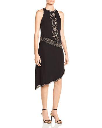 Haute Hippie - Mojave Desert Asymmetric Beaded Silk Dress
