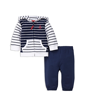 Little Me Boys Nautical Reverse French Terry Jacket  Joggers Set  Baby