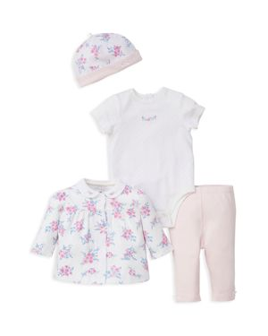 Little Me Girls' Floral Shirt, Bodysuit, Leggings & Cap Set - Baby