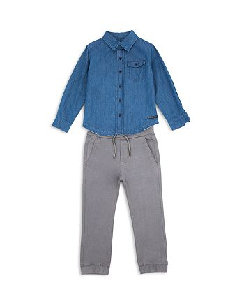 Hudson - Boys' Denim Button-Down & Jogger Pants Set - Baby